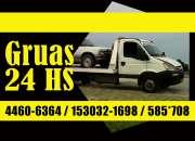 Auxilio las 24 hs 153032-1698 Traslados de casa rodantes, autoevadores, bobcat, herramient