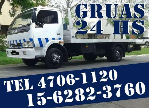 15-30256248 grúas plancha auxilio mecánico traslados y acarreos 24hs
