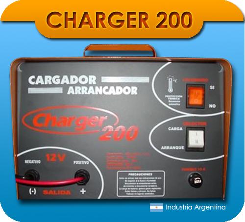 Cargador arrancador de baterías charger 200 12 v 200 amp.
