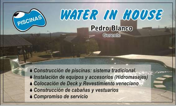Constructora water in house