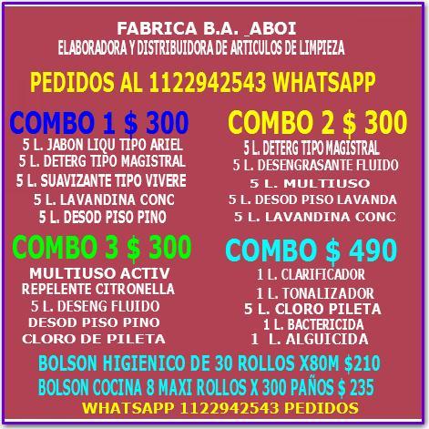 Articulos de limpieza - ba - mayorista 01122942543
