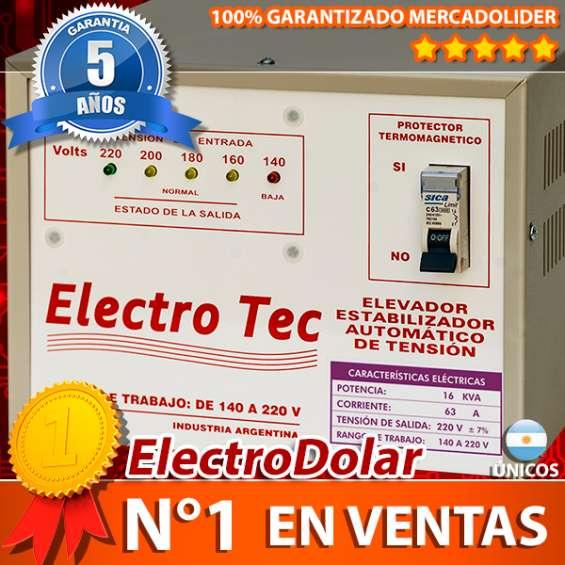 Elevadores automático de tensión 16 kva (r 140v) estabilizador