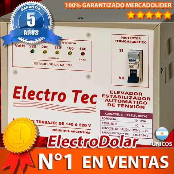 Elevadores automático de tensión 10 kva (r 140v) estabilizador