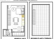 Chacarita venta en pozo monoambiente con terraza en Humboldt al 1200 2°9
