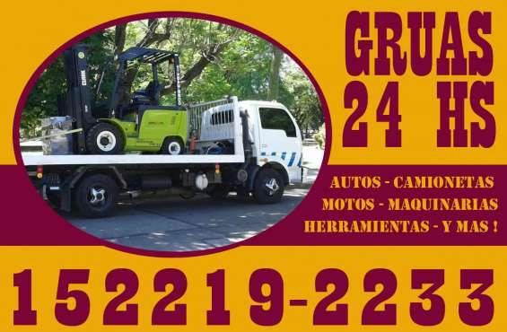 15-22192233 grúas plancha auxilio mecánico remolques y traslados 24hs