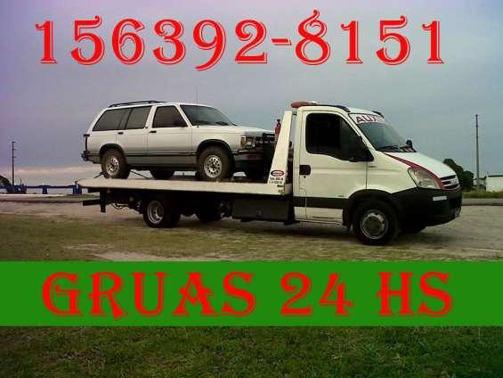 15-63928151 grúas plancha remolques y acarreos auxilio mecánico las 24hs