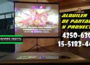 ALQUILER DE PANTALLA Y PROYECTOR EN QUILMES   4250-6308