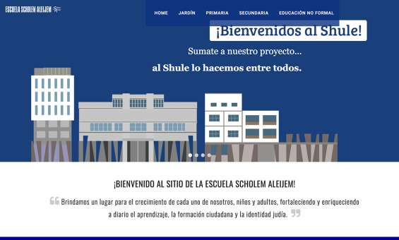 Pagina web, escuela scholem aleijem