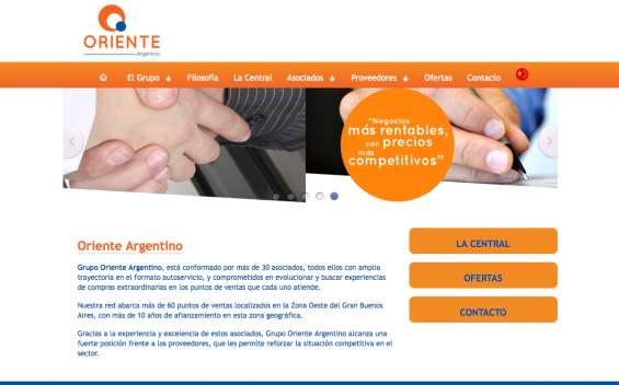 Pagina web, oriente argentino - pool de compras