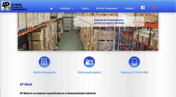 Pagina web, ap metal - sistema de almacenamiento