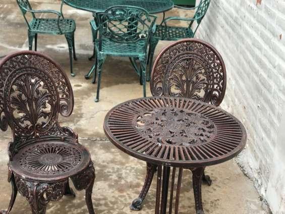 Juego garden fundición aluminio para exterior