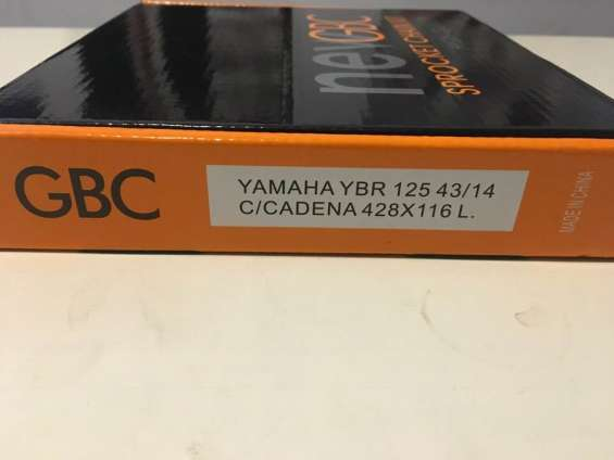 Yamaha ybr125 kit completo cadena corona piñon