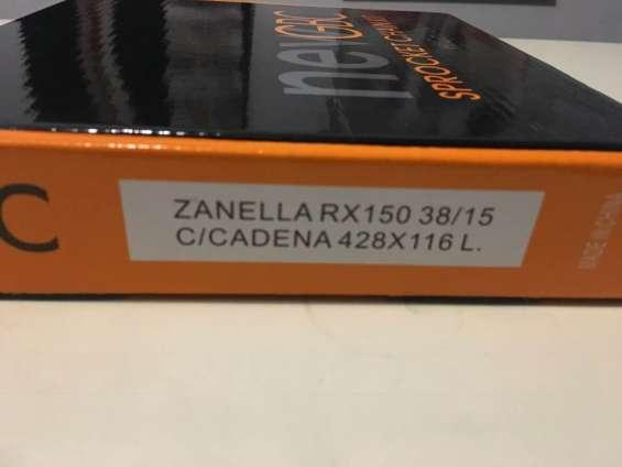 Zanella rx 150 kit completo cadena corona piñon