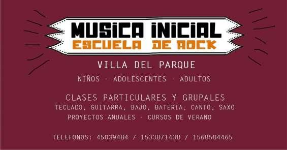 Escuela de rock-música inicial en villa del parque