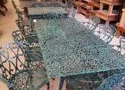 Juego de jardin Boston, mesa con 8 sillones