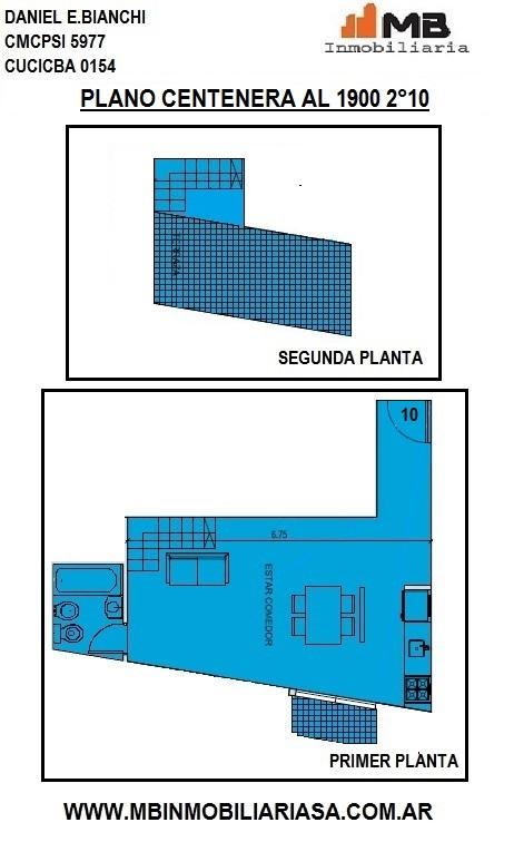 Parque chacabuco monoamb. c/balcón y terraza del barco centenera al 1900 2°10
