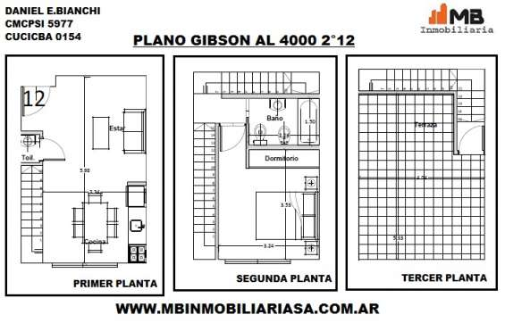 Boedo ph en construccion 2 amb.c/terraza en gibson al 400 2°12