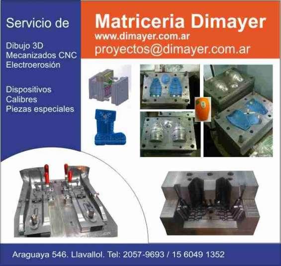 Matriceria cnc dimayer zona sur  realizamos diseño y mecanizado de matrices para gofrado textil.
