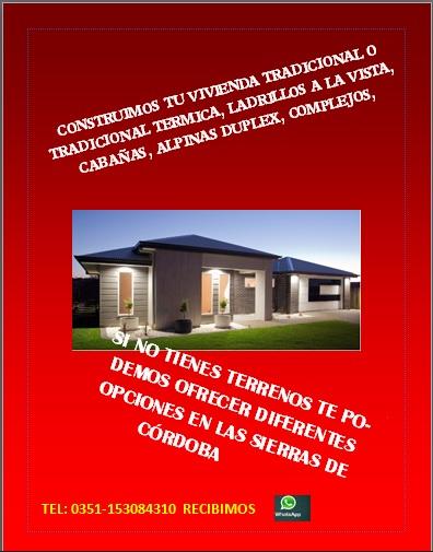 Venta de terrenos y construccion de viviendas