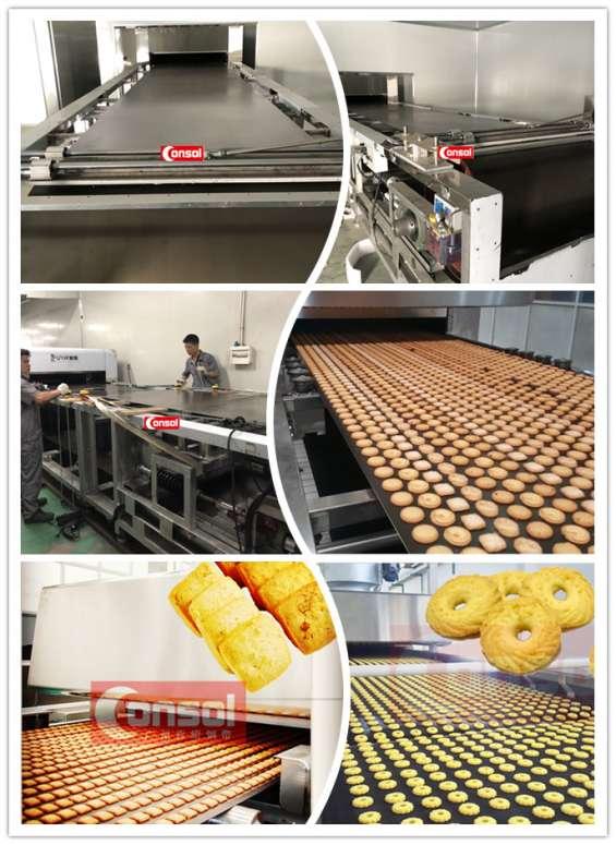 Galletas, equipo, hornos, equipo de producción curva hornos continuos