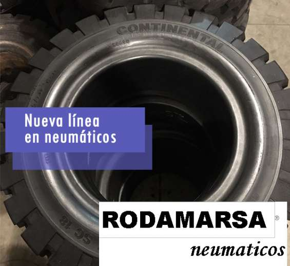 Fotos de Cubierta maciza 650x10 650 x 10 autoelevadores rodamarsa continental 2