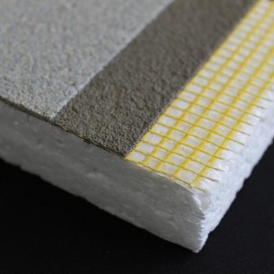 Sistema eifs / eps / malla de fibra de vidrio / base coat monocomponente / revestimiento texturado