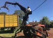 Vendo grua forestal sobre tractor fiat 780