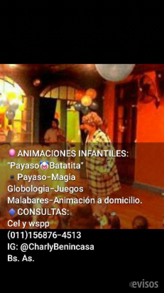 Payaso batatita animaciones infantiles mago charly globologia bs as