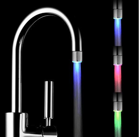 Griferia led adaptador para canilla baño o cocina