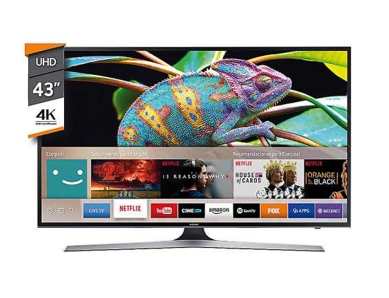 "Smart tv 43"" samsung un43mu6100 4k ultra hd nuevo en caja cerrada"