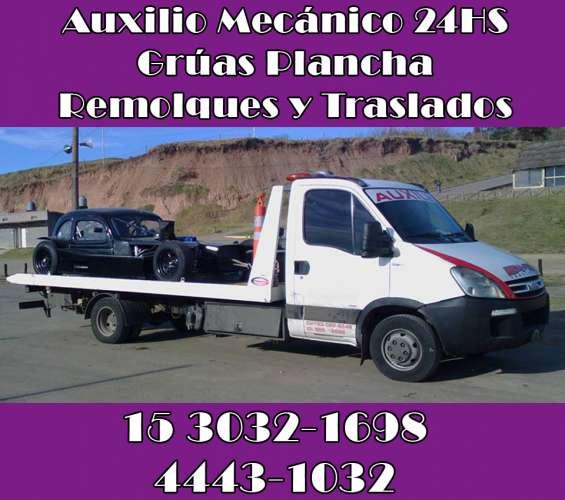 15-30321698 grúas plancha auxilio mecánico traslados y acarreos 24hs