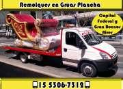 15-53067312 Grúas Plancha Remolques y Traslados 24HS