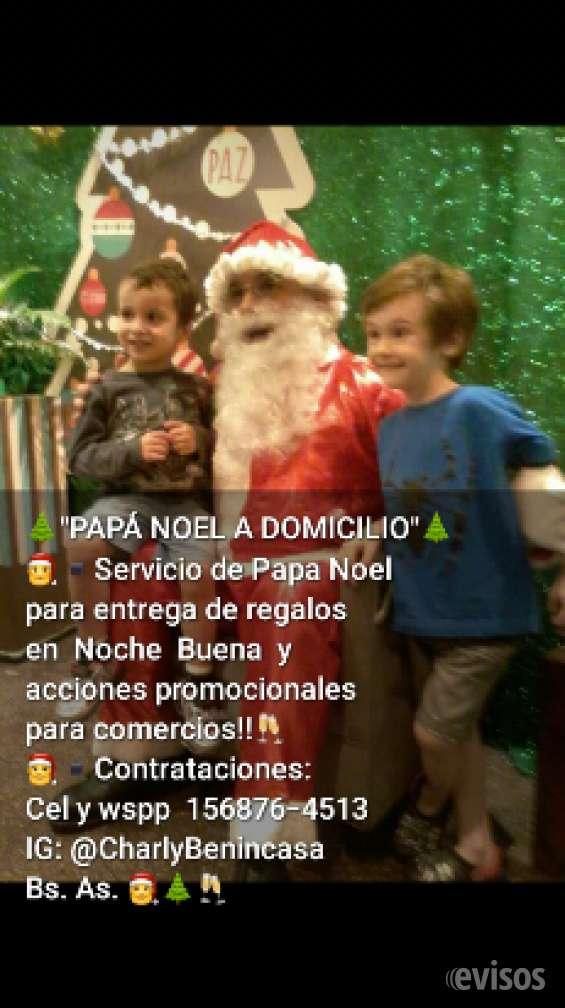 Para navidad papa noel entrega de regalos -bs as