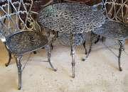 Juego de jardin Boston mesa con 2 sillones
