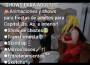 Adultos shows para eventos humor chistes moxoloco transformistas