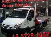 15-52281032 Grúas Plancha Remolques y Traslados las 24HS
