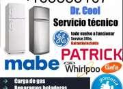 SERVICE HELADERAS WHIRLPOOL  CARGA DE GAS TECNICO 1563835107