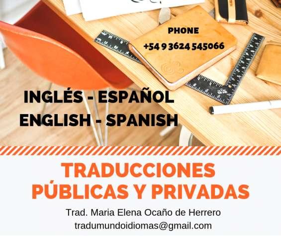 Traducciones mundo idiomas - ingles español - english spanish translations