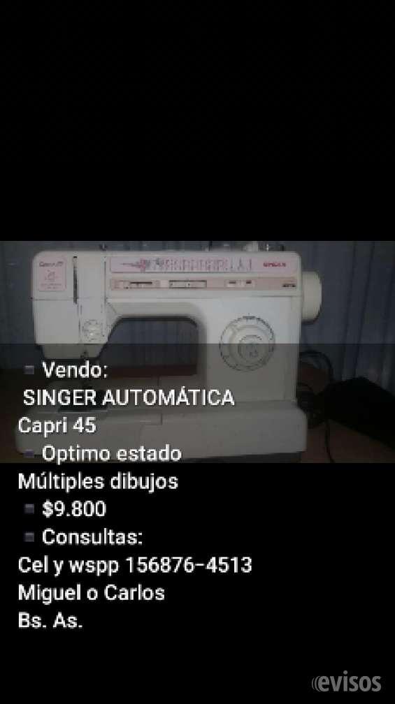 Vendo singer capri 45 automática perfecto estado $9800
