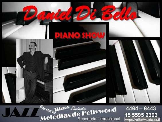 Pianista show recepciones jazz bossa melodias