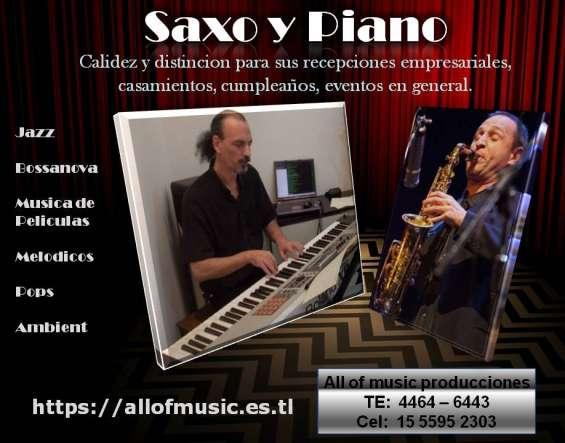 Saxo y piano show recepciones