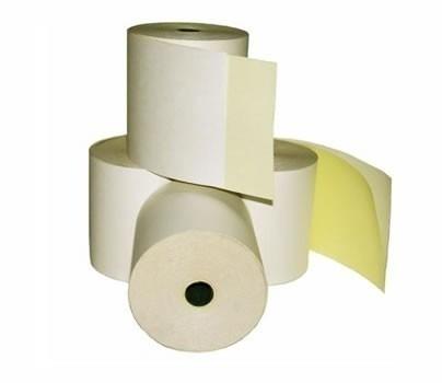 Rollos fiscales duplicados quimicos de 76 mm x 30 metros