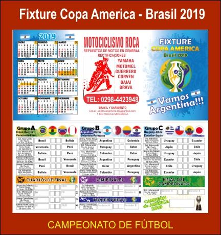 Fixture copa america 2019 - brasil