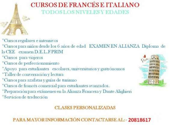 Segyimos tambien en verano con los cursos de frances italiano!!!
