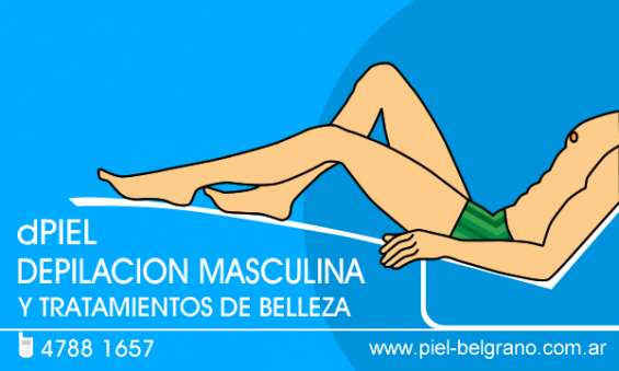 Depilacion masculina. depilacion para hombres.