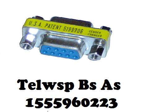 Adaptador serial db9 hembra/hembra caba 1555960223