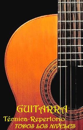 Clases de guitarra. todas las edades y niveles