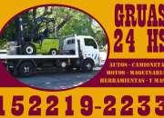 Auxilio las 24 hs 152219-2233 Traslados de autos chocados, dados de baja, plataformas