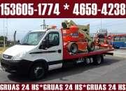 Auxilio las 24 hs 153605-1774 Gruas Remolques Traslados las 24 hs
