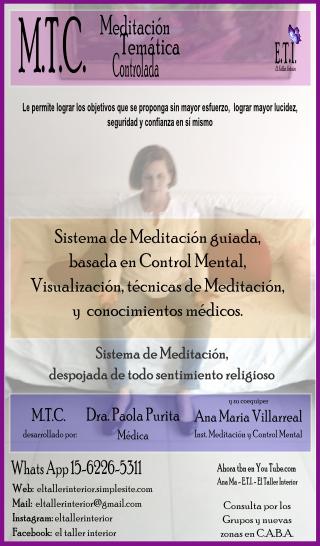 Meditación sistema m.t.c. (no religioso)